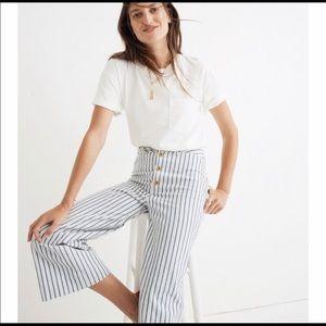 Madewell Emmett Wide Leg Crop pants in stripe